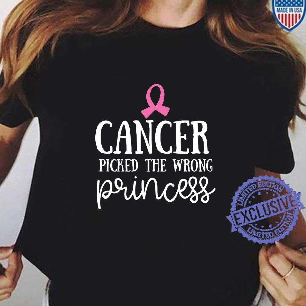 cancer picked the wrong princess charity race for life tshirt glitter