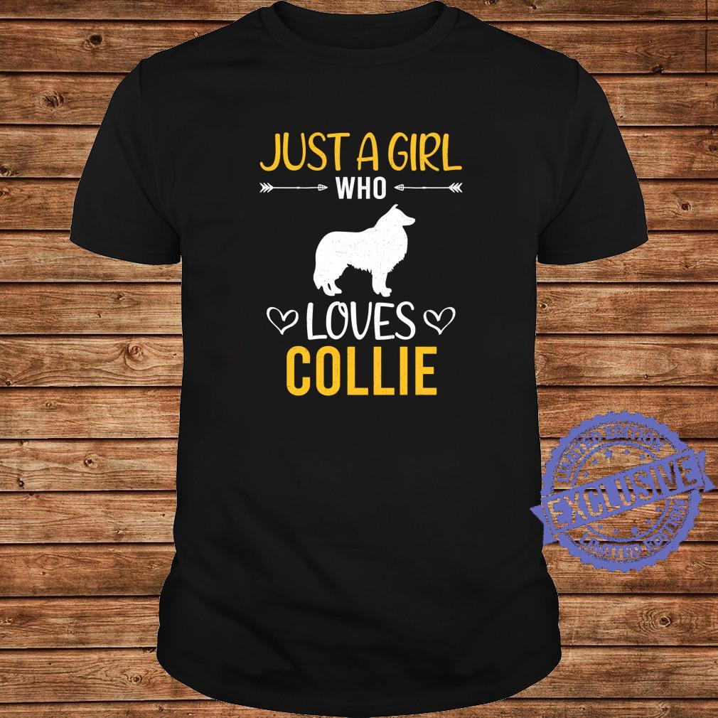 Just A Girl Who Loves Collie Dog Shirt long sleeved