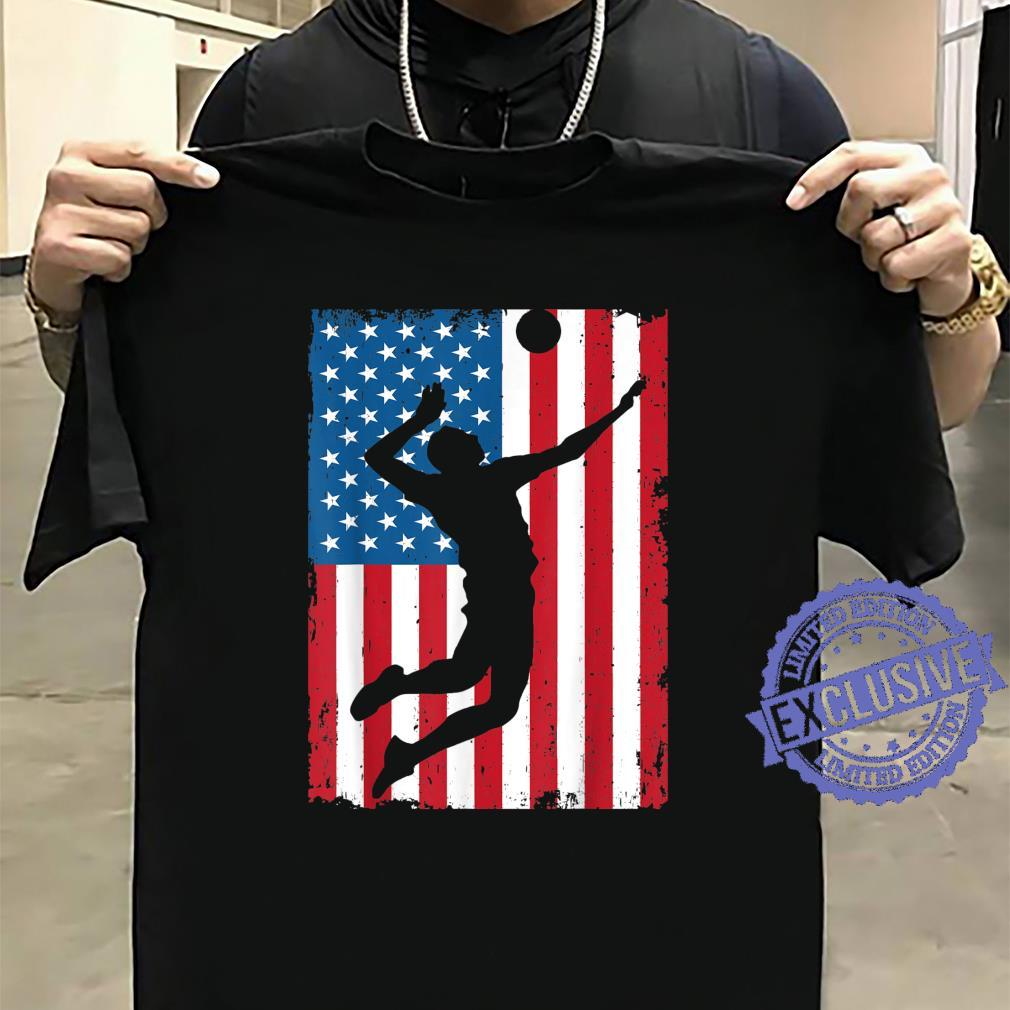 Volleyball American Flag USA Sports Vintage Shirt sweater