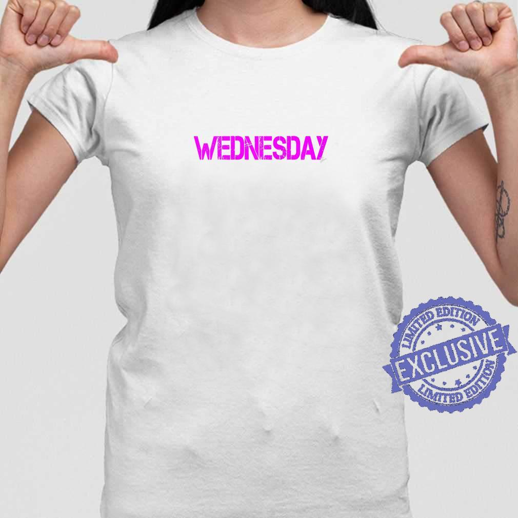 Wednesday Outfit weekday asberger help Autism awareness Shirt ladies tee