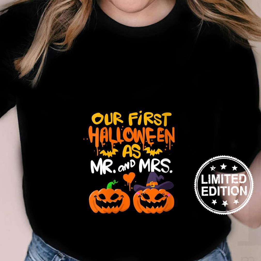 Womens Our First Halloween as Mr and Mrs Shirt ladies tee