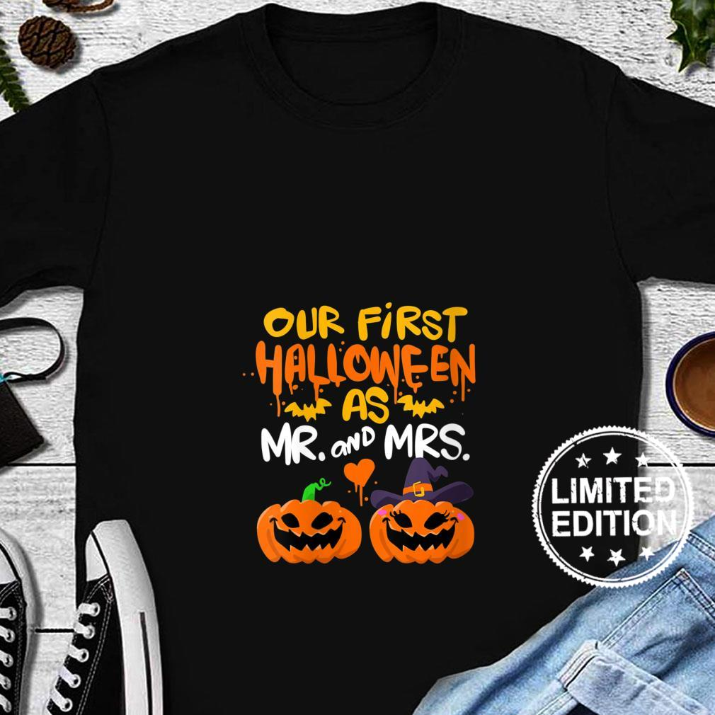 Womens Our First Halloween as Mr and Mrs Shirt long sleeved