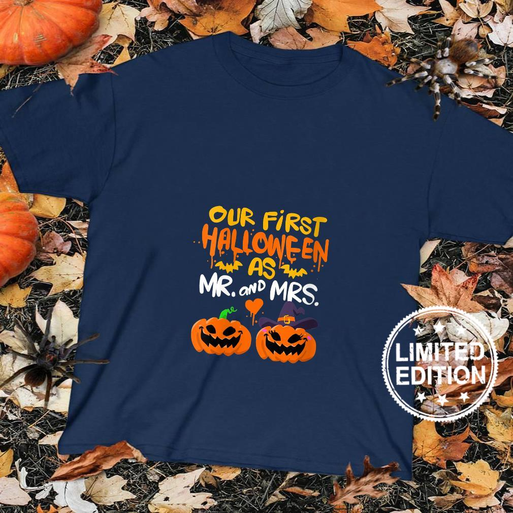Womens Our First Halloween as Mr and Mrs Shirt sweater