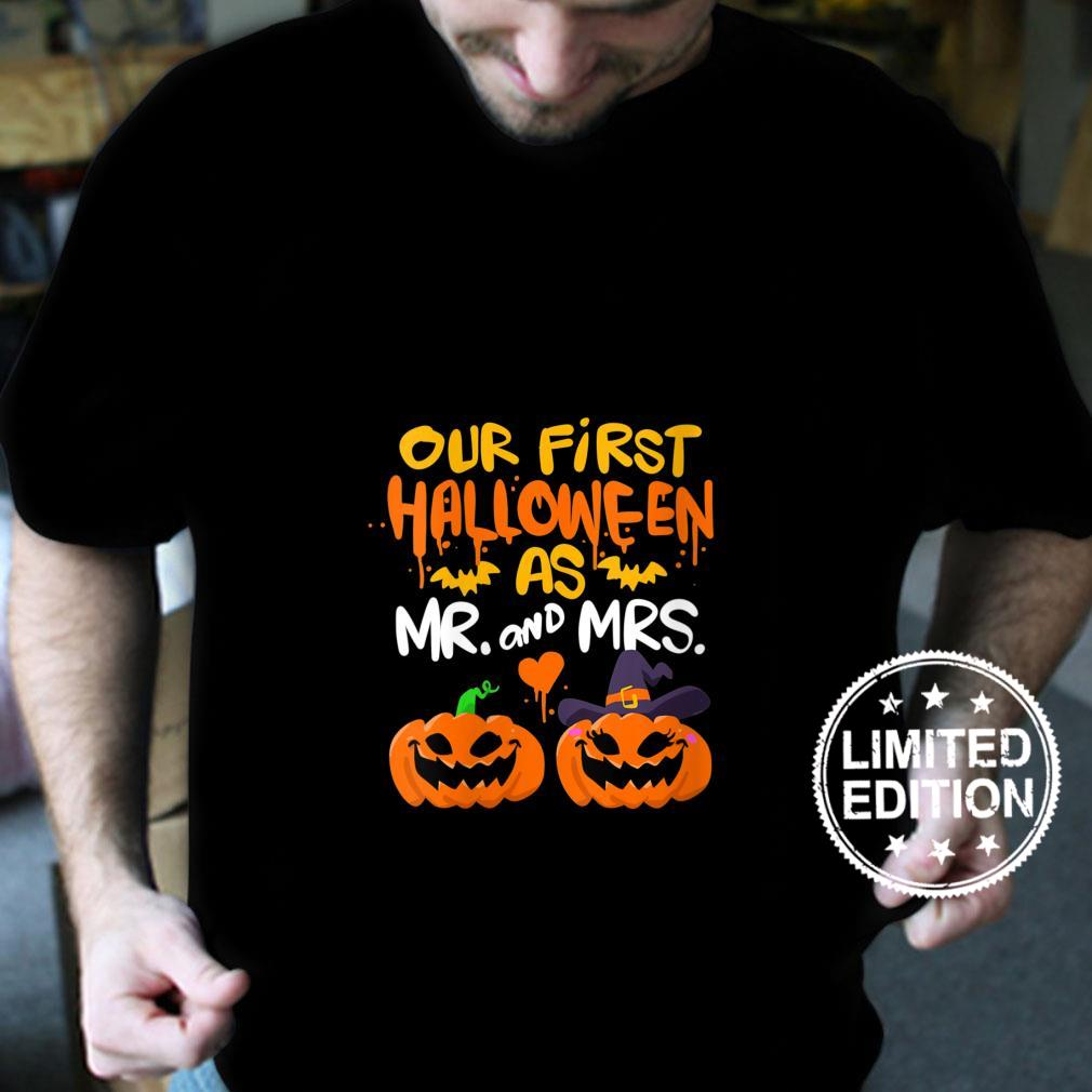 Womens Our First Halloween as Mr and Mrs Shirt