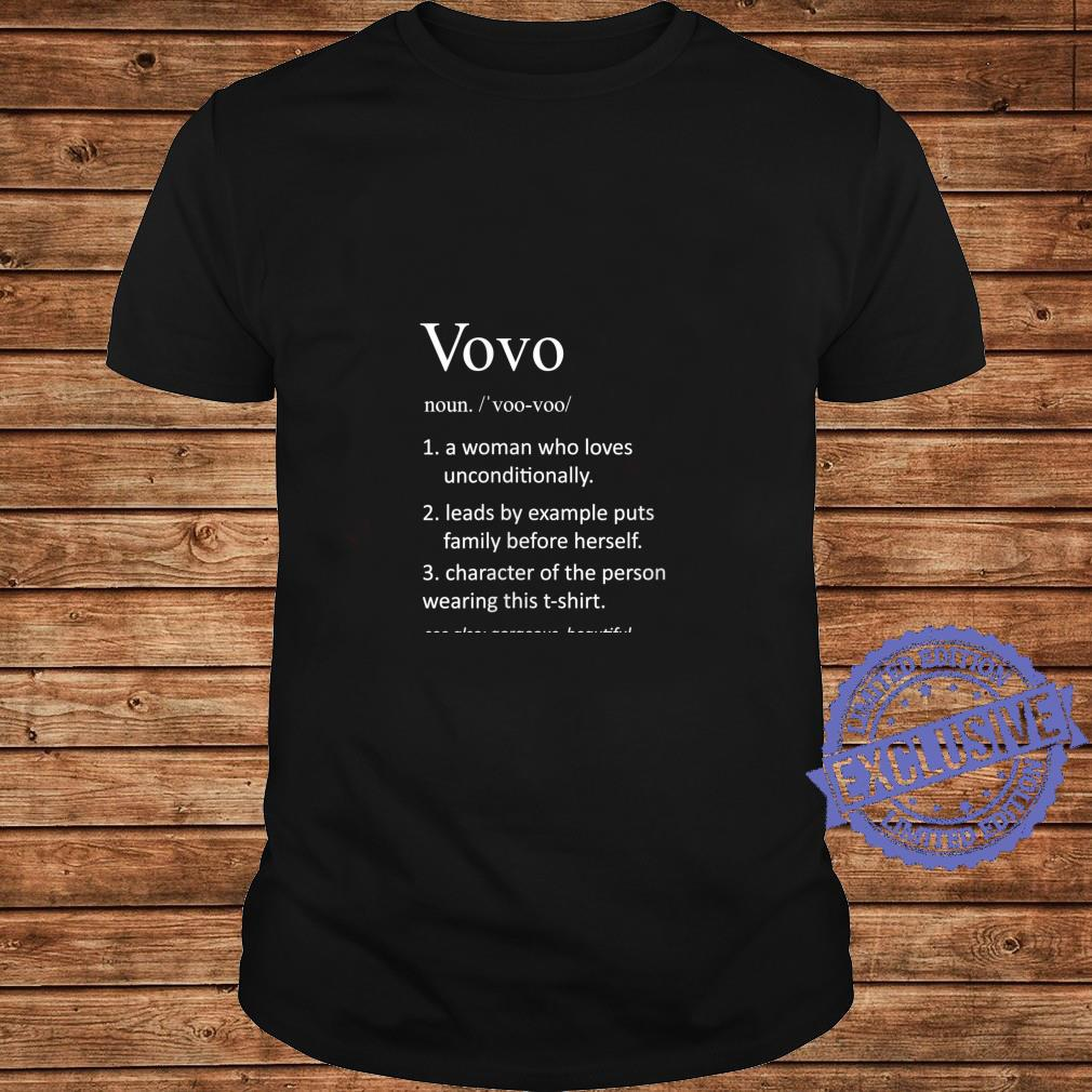 Womens Vovo Portuguese Mom Definition Grandmother Shirt long sleeved