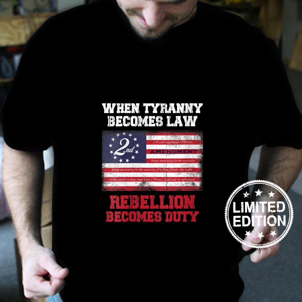 Womens When Tyranny becomes law rebellion becomes duty Shirt